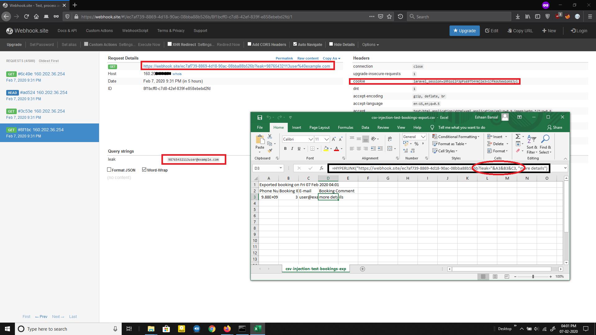 CSV Leak Excel