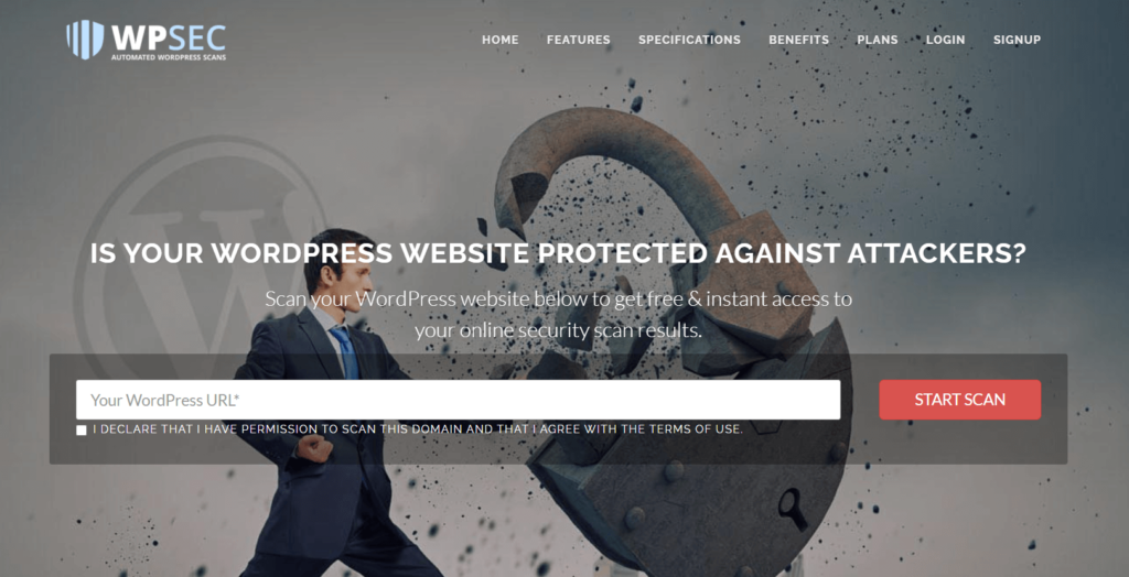 The homepage for WPSec, a program that can help prevent supply chain attacks.