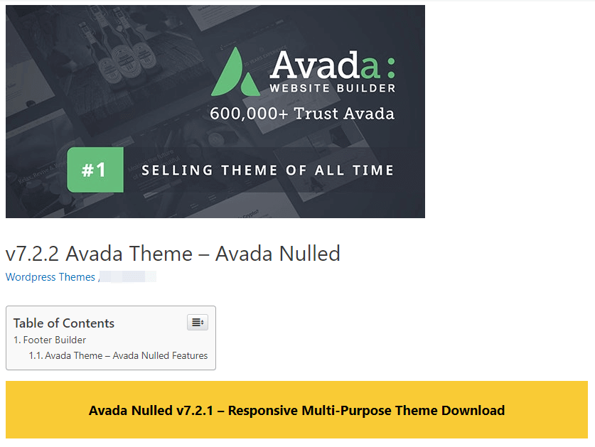 An example of a nulled theme.