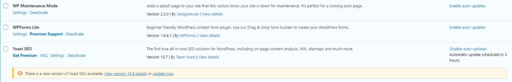 Updating plugins automatically.