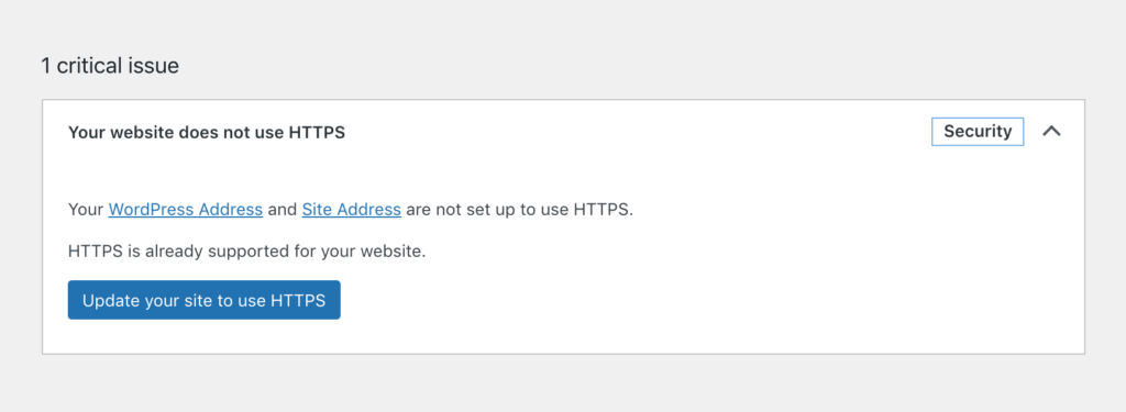 Updating your site to use HTTPS.